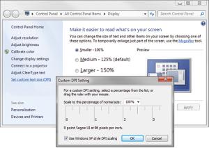 Cách chỉnh cỡ chữ trên màn hình máy tính