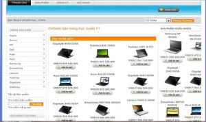 Một trang web bán hàng máy tính